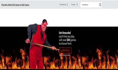 666 Casino screenshot