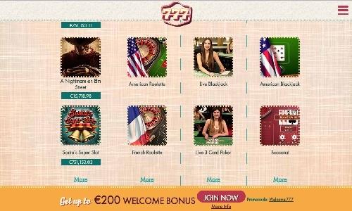 777 Casino screenshot