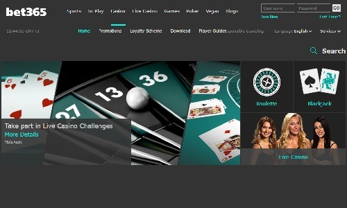 Bet365 Casino screenshot