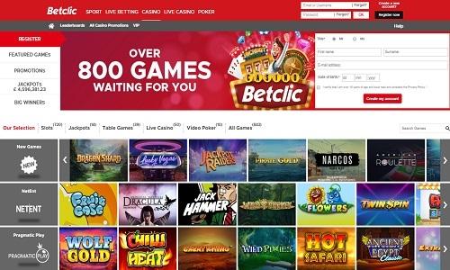 Betclic Casino screenshot