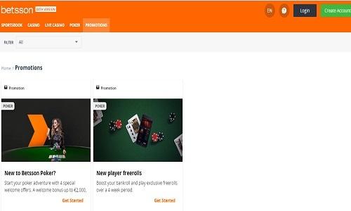 Betsson Casino screenshot