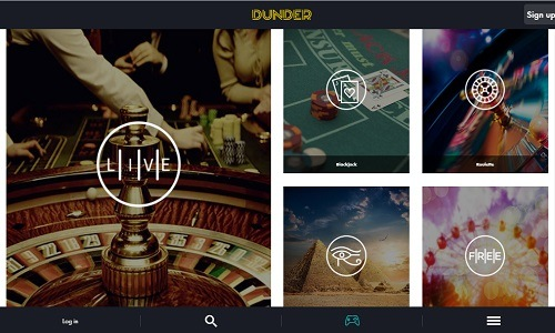 Dunder Casino screenshot