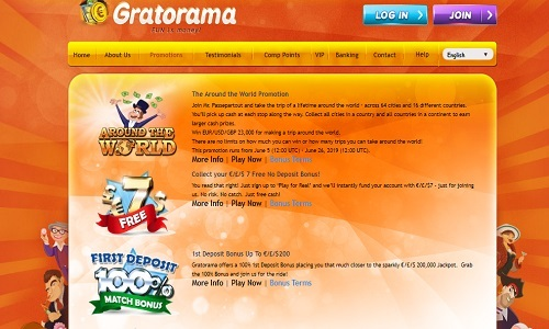 Gratorama Casino screenshot