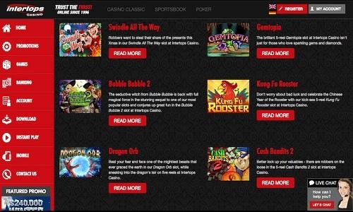 Intertops Casino screenshot