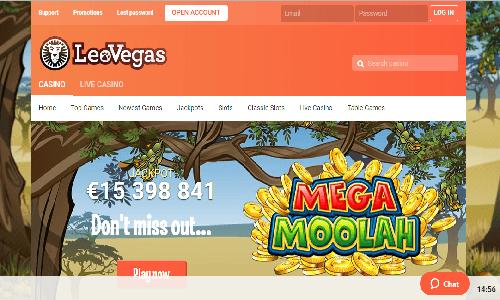 LeoVegas Casino screenshot