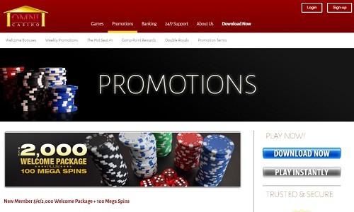 Omni casino screenshot
