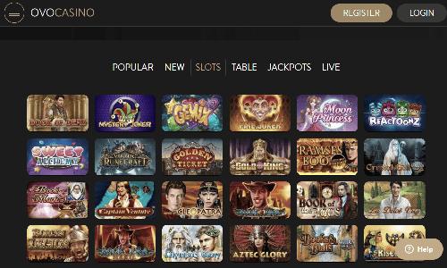 Ovo Casino screenshot