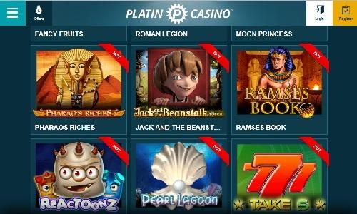 Platincasino screenshot