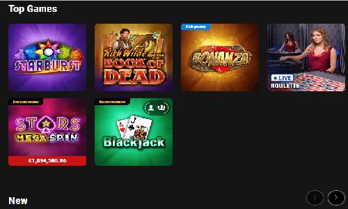 Pokerstars Casino screenshot