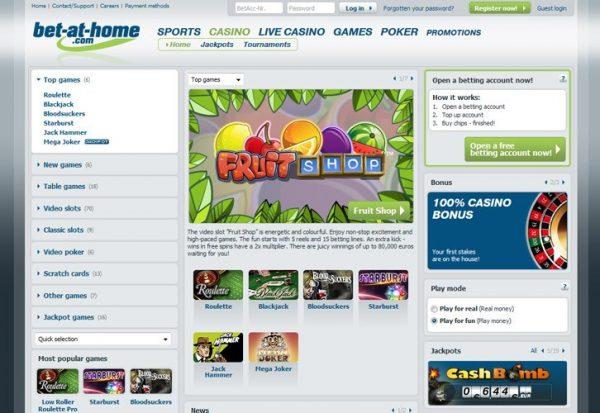 Bet-at-home Casino screenshot