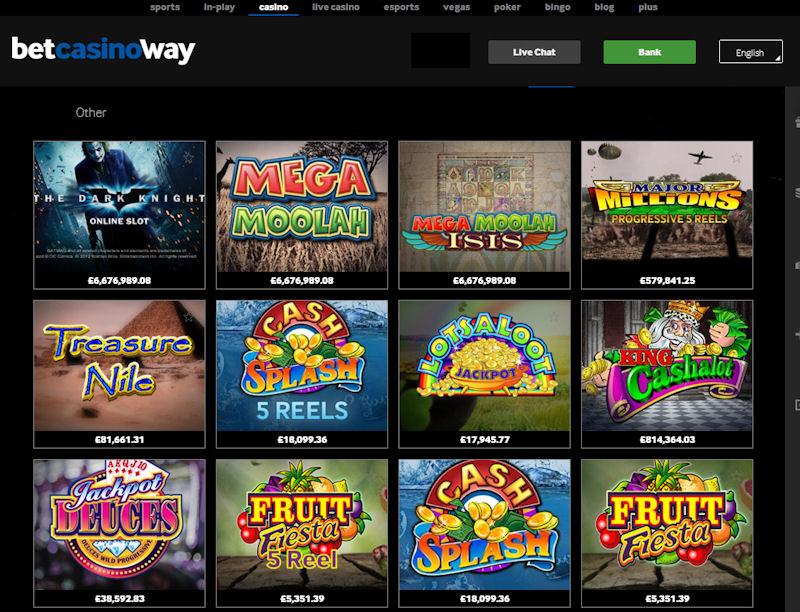 Betway Casino screenshot